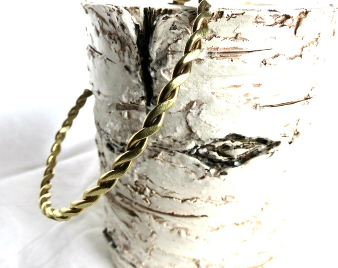 Cuff Bracelet, Braid Bracelet, Rustic Cuff, Stacking Bracelet, Rope Cuff, Antique Gold Cuff, Oxidized Bass, Handmade Jewelry, Gift Idea