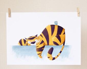 Sleeping Tiger print