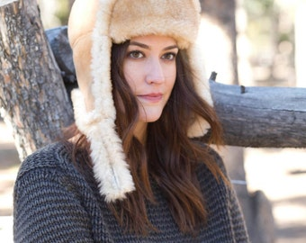 Ladies Sheepskin Hat-Aviator