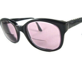 Meflecto black frames pre-Persol Ratti 6112 Art. Made in Italy flexible temples size 53-23