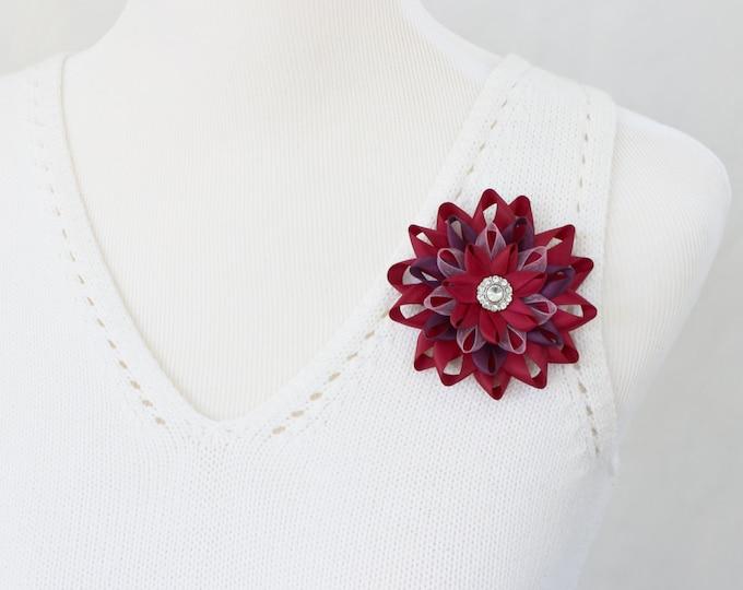Flower Corsage, Wine Corsage Pin, Flower Corsages, Wedding Flowers, Wine, Maroon, Purple, Flower Corsage Pin, Wine Wedding, Wine Dress Pin