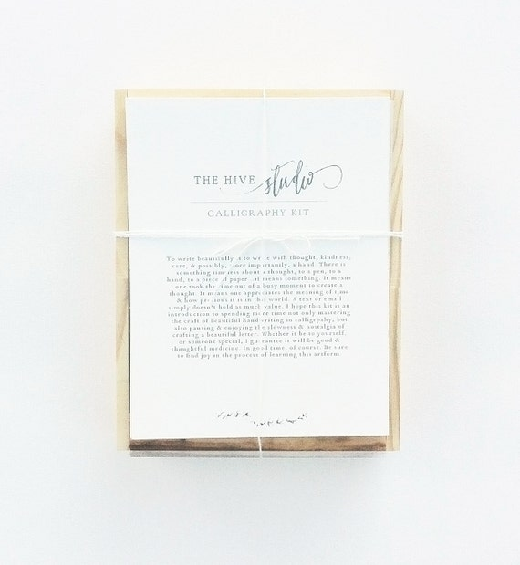 Calligraphy beginner kit by lindseybee on etsy