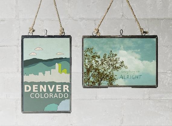 Denver Colorado // Nursery Decor, Modern Baby, Typography Poster, City Skyline, Giclee, Illustration, American Travel Theme, Digital