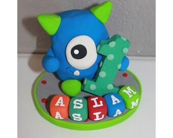 Monster Custom Cake Topper for Birthday or Baby Shower