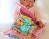 Baby Lamb Travel Blanket, Baby Doggy Travel Blanket, Babies Travel Blankie, Little Travel Blankie