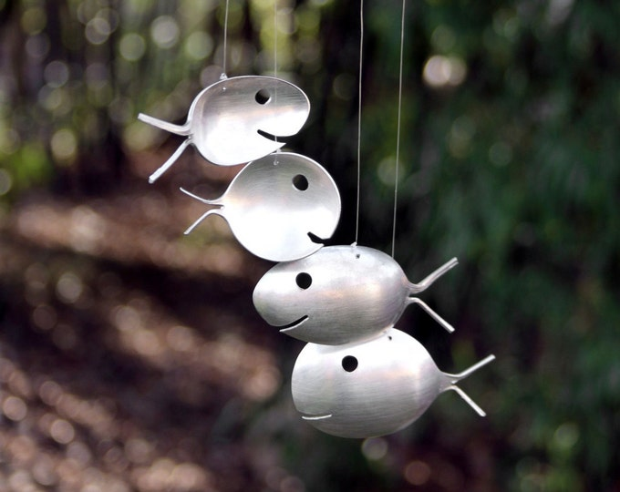 Twisted Metals Neva Starr Windchime Diy How To Make Spoon Fish Wind Chime From Spoons Metal Ceramic Wind Chimes Mobile Art Twisted Metals Nc