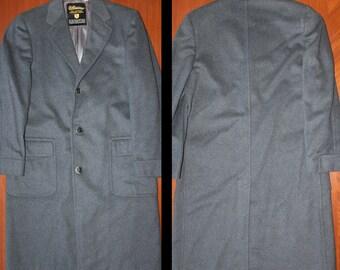 Ultissimo 100% cashmere vintage gray overcoat coat