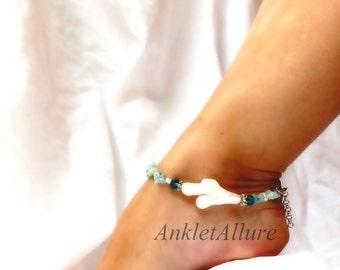 Beach Anklet Baroque Pearl Ankle Bracelet Beach Jewelry Body Jewelry