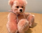 REDUCED Artist Bear - 6 inch Teddy - Peach Mohair Bear - Made for Pud Bears - Viola