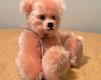 Artist Bear 50% off List Price - 6 inch Teddy - Peach Mohair Bear - Made for Pud Bears - Viola