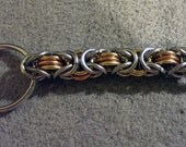 Stainless Steel, Copper, Brass Chainmaille Key Chain