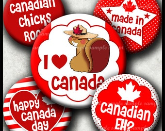 INSTANT DOWNLOAD Canada Day (261) 4x6 Bottle Cap Images Digital Collage Sheet bottlecaps glass tiles hair bows magnets . bottlecap images