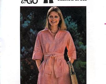 Butterick 4777 Vintage 70s Misses' Dress and Sash Sewing Pattern - Uncut - Size 10