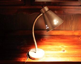 Vintage Goose Neck Metal Desk Lamp - Mad Men Lamp