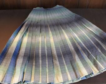 Vintage Wool Skirt -  Pendleton  REVERSABLE Wool Skirt - Midi  Wool Skirt