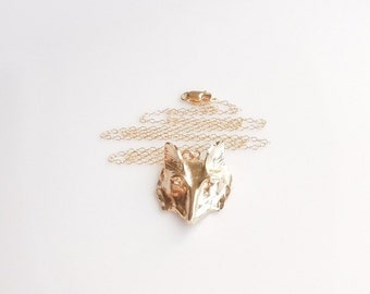 Fox Necklace in Gold and Silver - A Shop Favorite