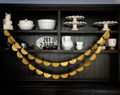 Gold Scallop Garland, Scallop Garland, Gold Garland, Gold New Years Garland, Gold Wedding Garland, Photo Background, 12 feet +