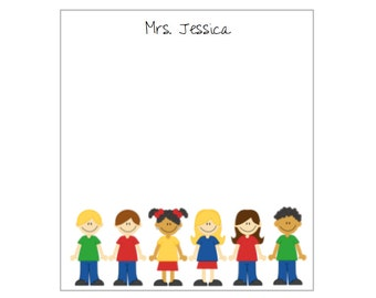 SCHOOL KIDS - personalized notepad large order discount