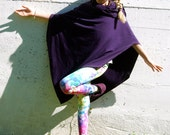 Girl's Hooded Poncho - Pixie Cape - Organic Clothing - Cowl - Eco Friendly - Eggplant Purple