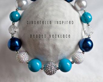 Cinderella Necklace..Cinderella Chunky Necklace..Cinderella Beaded Necklace..Disney Princess Necklace..Necklace..Disney Couture...Cinderella