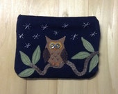 Starry Night Owl, Large Pouch