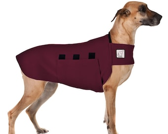 GREAT DANE Tummy Warmer, Fleece Dog Coat, Sweater for Dogs, XL Dog Sweater, Dog Tshirt, Dog Clothing, Dog Clothes, Dog Vest, Maroon,