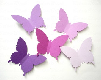25 Extra Large Purple Country Butterfly die cut punch scrapbook embellishments - No1010