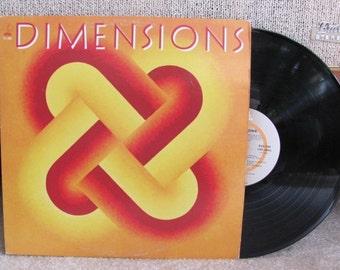 "Vintage 80's ""Dimensions"" K-tel Vinyl Record Album - 1981 Hits - Compilation - Entertainment - ""Celebration"", ""Keep on Loving You"""
