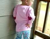 Toddler Valentine's Day Shirt with Heart Elbow Patches - XOXO - Glitter
