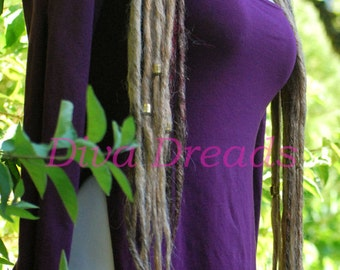 Mixed Blonde Dread lock Falls with gold beading