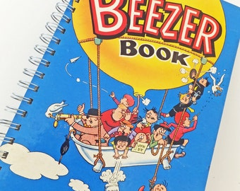 Beezer Journal, Beezer 1968, up-cycled notebook, gift for guys