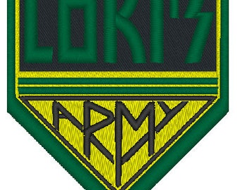 Lokis Army iron on patch