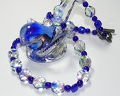 Multi-Faceted Multi-Color Glass Bead Handmade Necklace