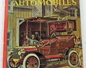 Vintage 1961 Early Automobile Car Children's Reference Color Illustrations Golden Library Knowledge  Antique Car Book Early Transportation