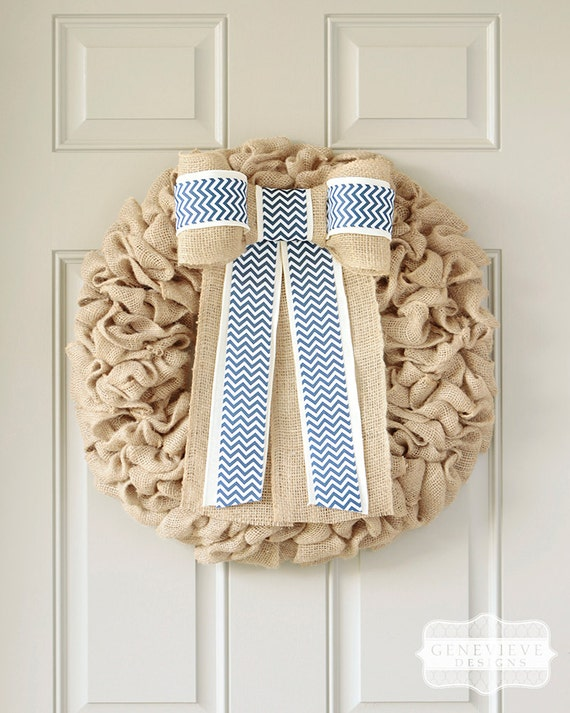Items similar to baby boy nursery decor front door wreath for Baby shower front door decoration ideas