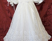 Christening/Blessing Dress and White Cotton Slip - 3 to 6 Months - READY TO SHIP