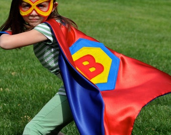Kids Cape, Power Cuffs and Mask, Supreme Superhero Set-  Ages 5 to 7 years