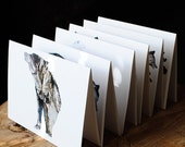 SALE : Woodland Animal Card Set - Your choice of 6 Bark Animal Silhouettes - 20% OFF
