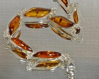 Amber Bracelet Silversmith Bracelet Natural Amber Bracelet Gemstone Jewelry Baltic Amber Jewelry