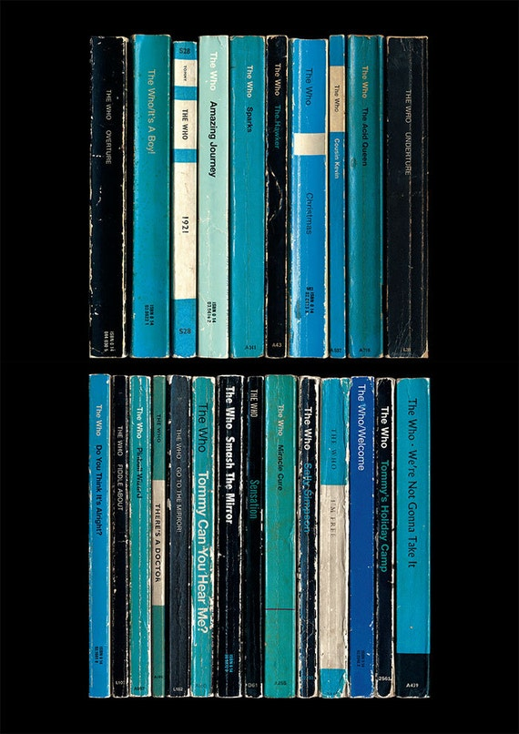 The Who - Tommy - Poster Print - Album As If Written As Penguin Paperback Books - Literary Music Poster - The Who Band Print