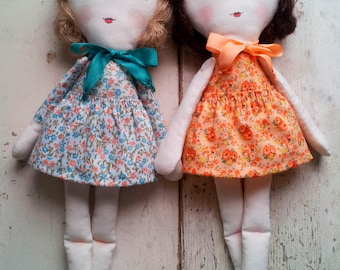 PDF Softie Sewing Pattern - Lucy Vintage Style Rag Doll