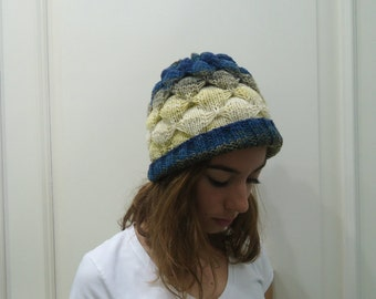Hand Knitted  Beanie HAT,women,teenage,fall winter, gift for her,
