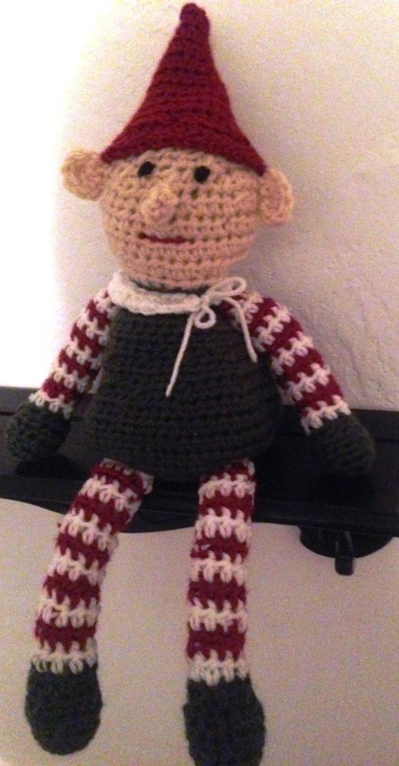 Crochet elf christmas elf shelf sitter elf on the shelf christmas