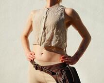 Burning Man Unisex Leather Holster Bag