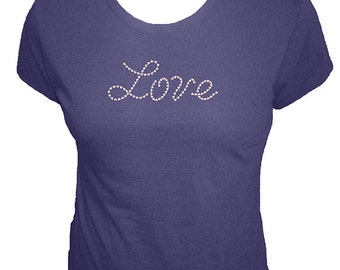 Valentines Day Womens Shirt - Love Made of Hearts - Cute Organic T Shirt - 4 Colors - Organic Bamboo and Cotton Tee Shirt - Gift Friendly
