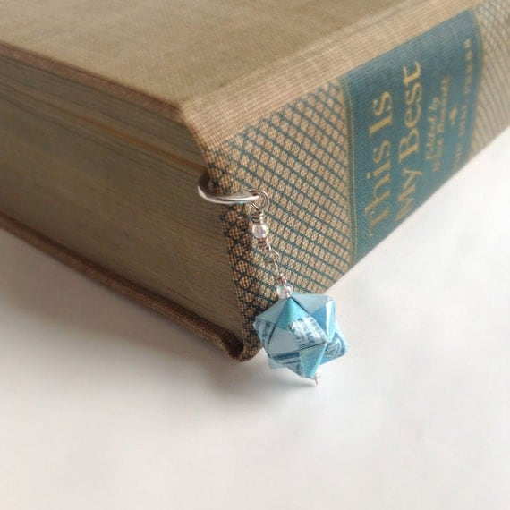 Modular Origami Bookmark // Shades of Blue