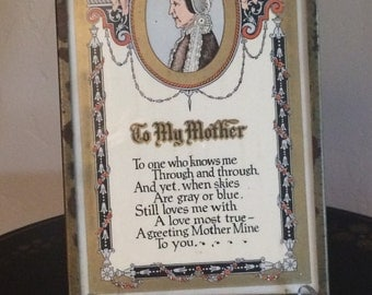 To My Mother Poem Plaque