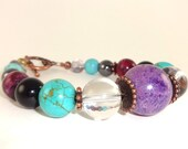 PAIN RELIEF bracelet, Healing Bracelet, Sugilite Bracelet, Yoga Bracelet, Turquoise Bracelet, Healing Crystals, Calm and Pain Relief