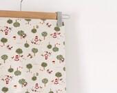 1.75 YARD PIECE Japanese Cotton Linen Blend Red Riding Hood Kawaii Fabric