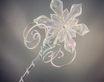 Maab's Ice Queen Sceptre - Snowflake Scepter Ice Queen Costume Ice Queen Scepter Ice Fairy Wand Frozen Costume Elsa Snow Queen Wand
